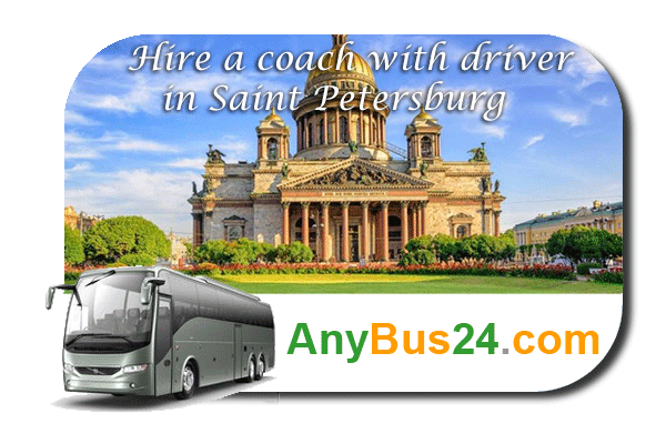 Hire a coach with driver in Saint Petersburg
