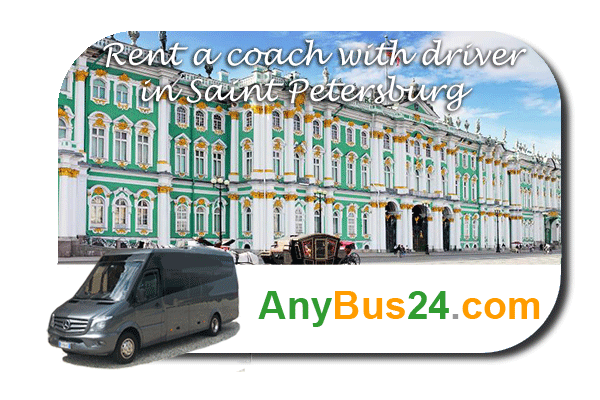 Rental of coach with driver in Saint Petersburg