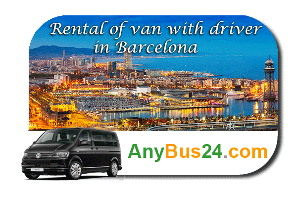 Rental of minibus with driver in Barcelona