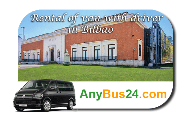 Rental of minibus with driver in Bilbao
