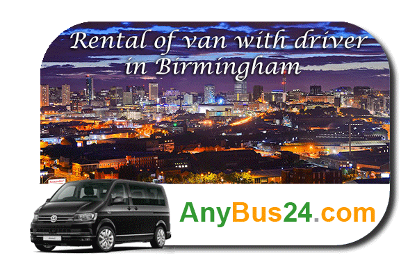 Rental of minibus with driver in Birmingham