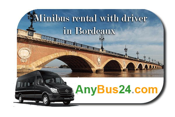 Hire a minibus with driver in Bordeaux
