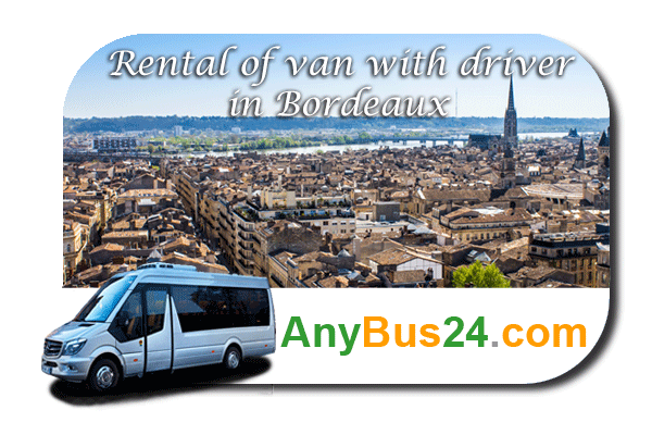 Rental of minibus with driver in Bordeaux