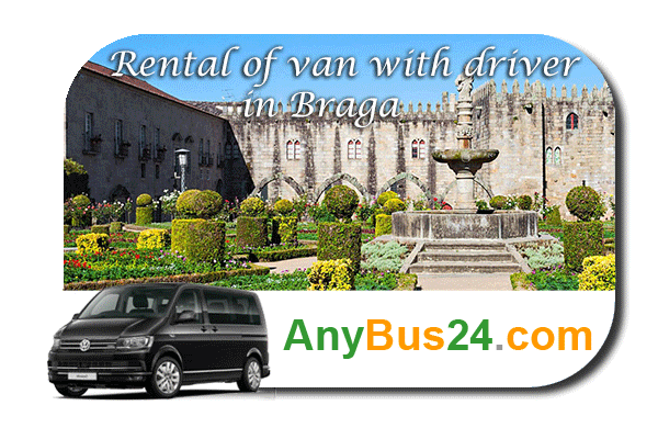 Rental of minibus with driver in Braga