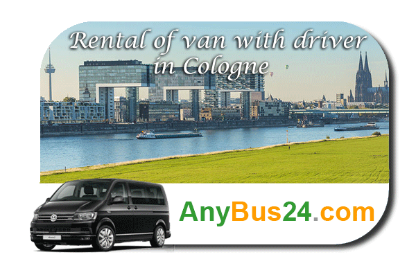 Rental of minibus with driver in Cologne