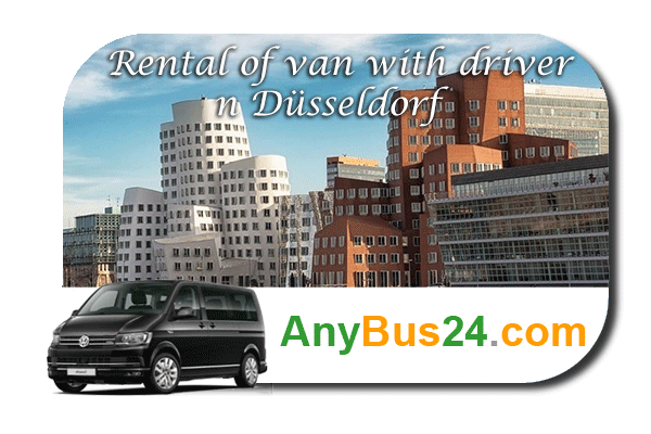 Rental of minibus with driver in Düsseldorf