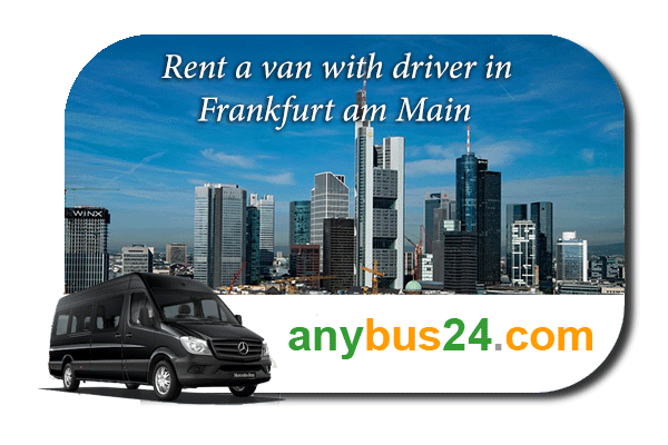 Hire a minibus with driver in Frankfurt