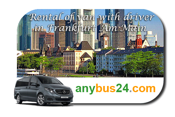 Rental of minibus with driver in Frankfurt