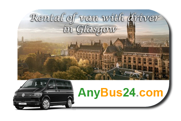 Rental of minibus with driver in Glasgow