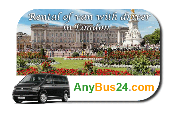 Rental of minibus with driver in London