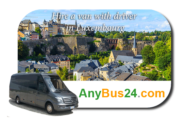 Hire a minibus with driver in Luxembourg