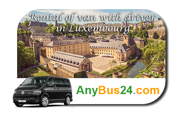 Rental of minibus with driver in Luxembourg