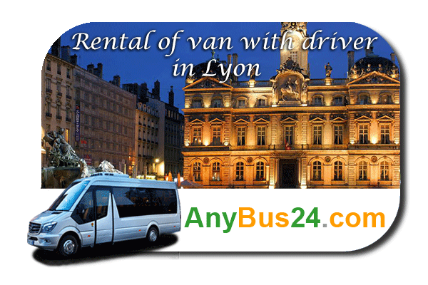 Rental of minibus with driver in Lyon