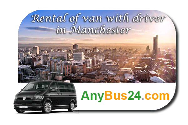 Rental of minibus with driver in Manchester