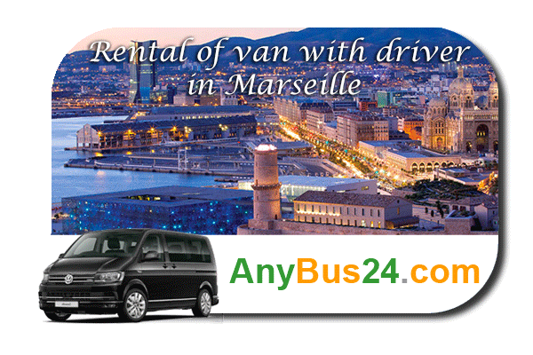 Rental of minibus with driver in Marseille