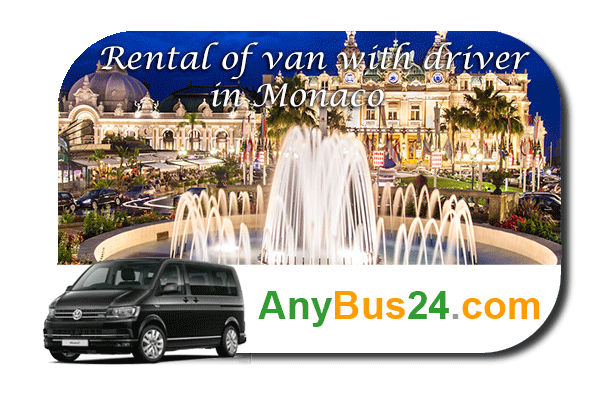Rental of minibus with driver in Monaco