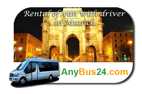 Rental of minibus with driver in Munich