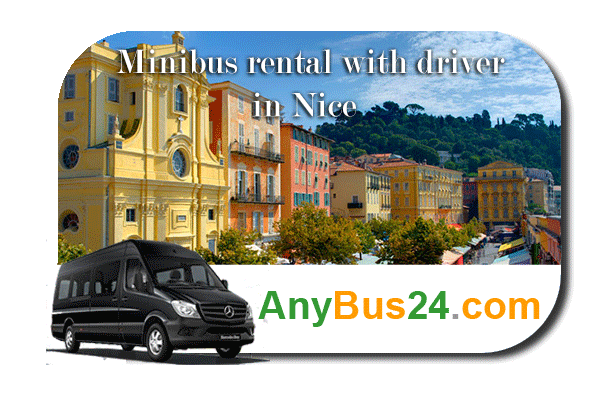 Hire a minibus with driver in Nice