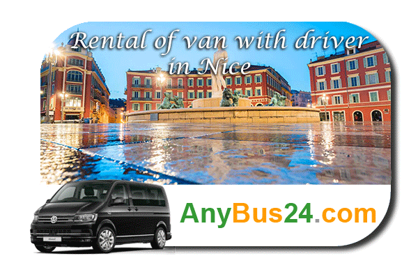 Rental of minibus with driver in Nice