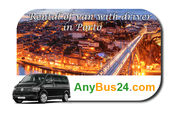 Rental of minibus with driver in Porto