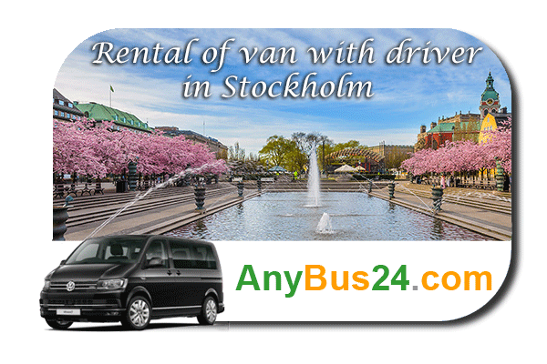 Rental of minibus with driver in Stockholm