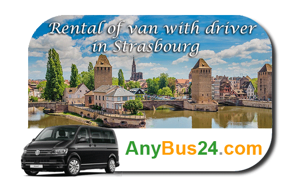 Rental of minibus with driver in Strasbourg