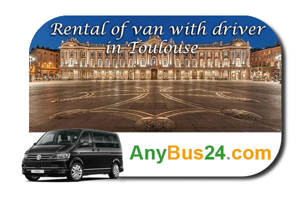 Rental of minibus with driver in Toulouse
