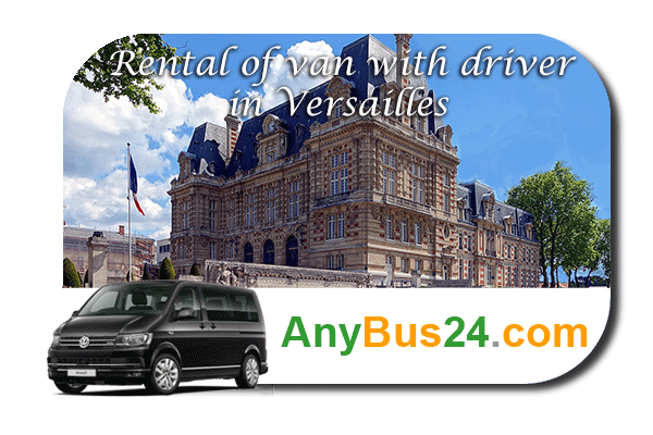 Rental of minibus with driver in Versailles